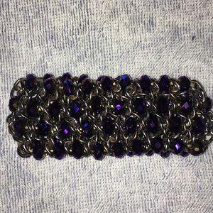Silver & purple bracelet